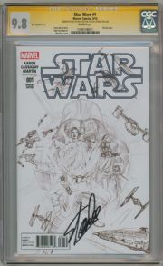 Star Wars #1 Alex Ross Retail Sketch Variant 1:200 (2015) CGC 9.8 Signature Series Signed Stan Lee Marvel comic